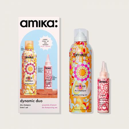 AMIKA PERK UP DRY SHAMPOO 232ML/RESET OIL 60ML PROMO